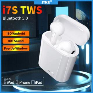 Tai Nghe Không Dây Bluetooth 5.0 + EDR JTKE I7s TWS Âm Thanh Nổi Có Mic Kiểu Dáng Thể Thao Khử Tiếng Ồn Rảnh Tay Dành Cho iPhone Xiaomi Samsung Huawei thumbnail