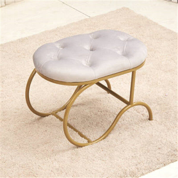 Shoe Bench American Iron Shoe Stool Round Sofa Bench Poufs