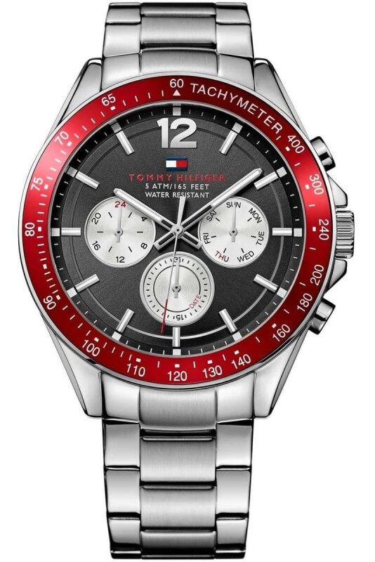 Authentic Tommy Hilfiger Mens Black Dial Silver Stainless Steel Watch 1791122 Jam Tangan Lelaki Malaysia