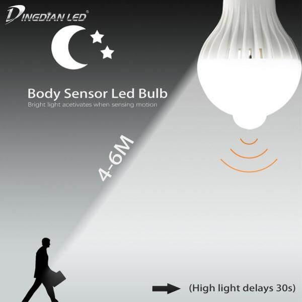 DINGDIAN Bóng Đèn LED Cảm Biến LED Đèn LED E27, Đèn Led Thông Minh 5W 7W 9W Đèn Led Phát Hiện Cơ Thể Bóng Đèn Hành Lang Chiếu Sáng Trong Nhà