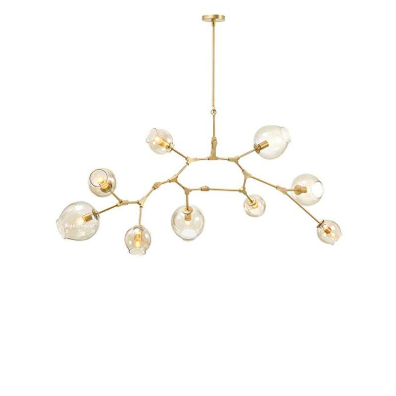 Model Room Chandelier Luxury Personality Creative Molecule Glass Pendant Lamp Retro Modern Simple Ceiling Light