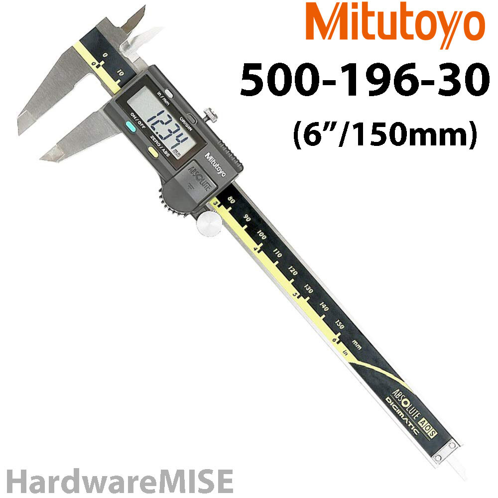 MITUTOYO 500-196-30 Absolute Digital Caliper 500-196 6  / 150mm Without SPC Output AOS