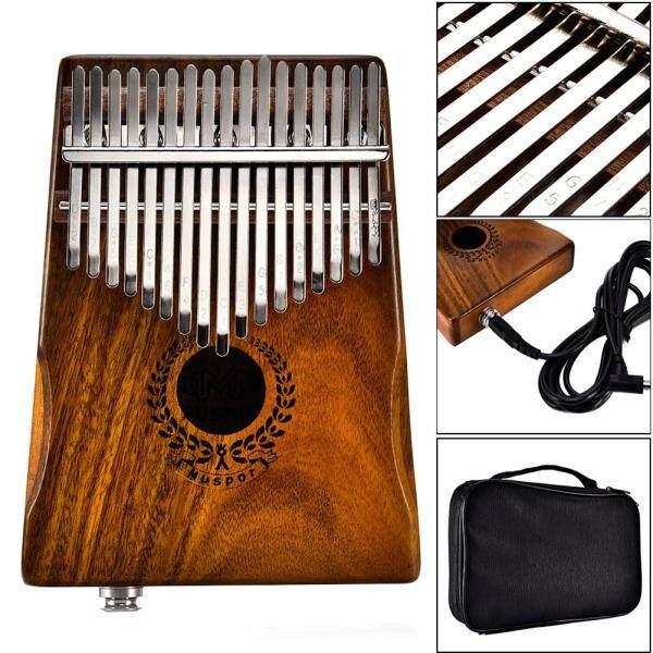 17 Phím EQ Kalimba, Acacia Loa Liên Kết Đàn Piano Ngón Tay Cái, Bộ Thu Điện Với Cáp Túi Đàn Kalimba Mini 17 Phím Kamfer
