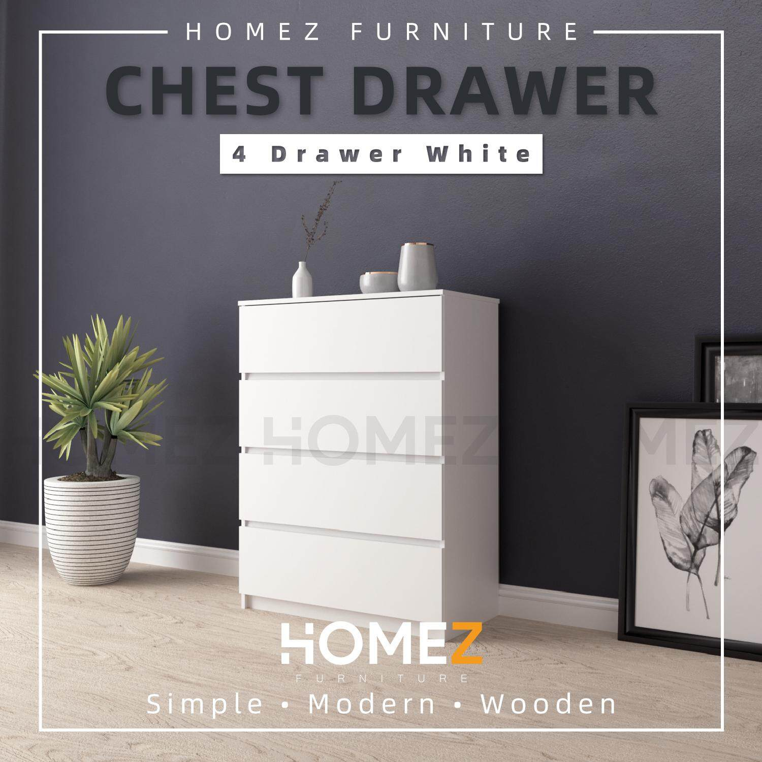 Homez Chest Drawer with 4 Layer Drawer Storage - 3 ft -HMZ-FN-CD-7001