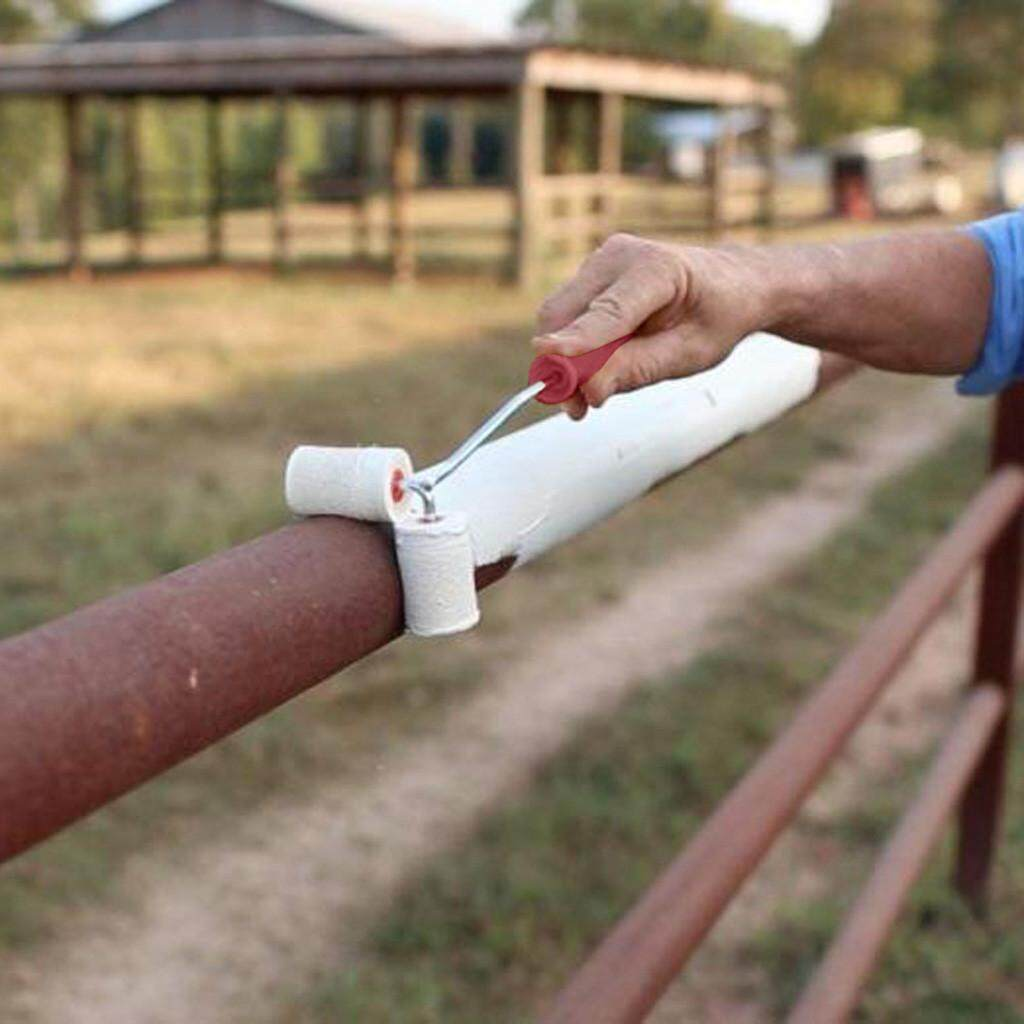 Roll All Dual Paint Roller Helps Paint Fencing Poles And Corners Dual Paint Roll