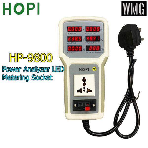 HP-9800 Handheld Power Meter Power Analyzer LED Metering Socket Measurable Current-voltage Power Factor