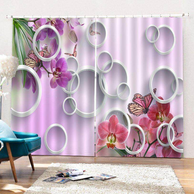 Crazy Sale 3D Decorative Curtain UV-proof room Curtains Washable Shield BJQ-1386 (1) Perfect Screening Home room Decorations
