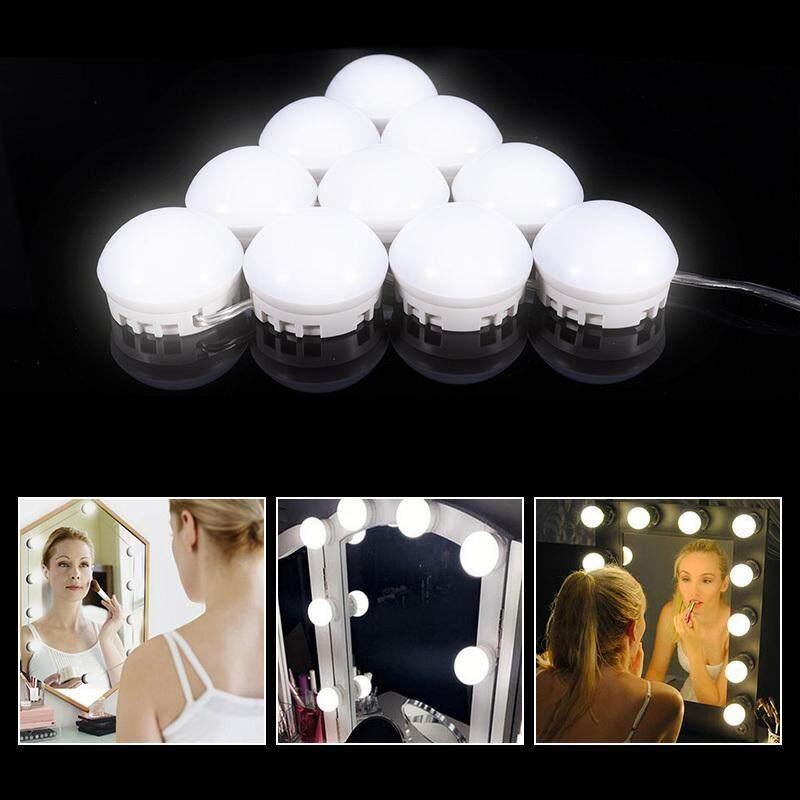 10 Đèn LED Điều Chỉnh Được Độ Sáng Đèn Gương Bộ Nguồn USB 7000K Ánh Sáng Chuỗi Bóng Đèn Cho Bàn Trang Điểm MakeUp