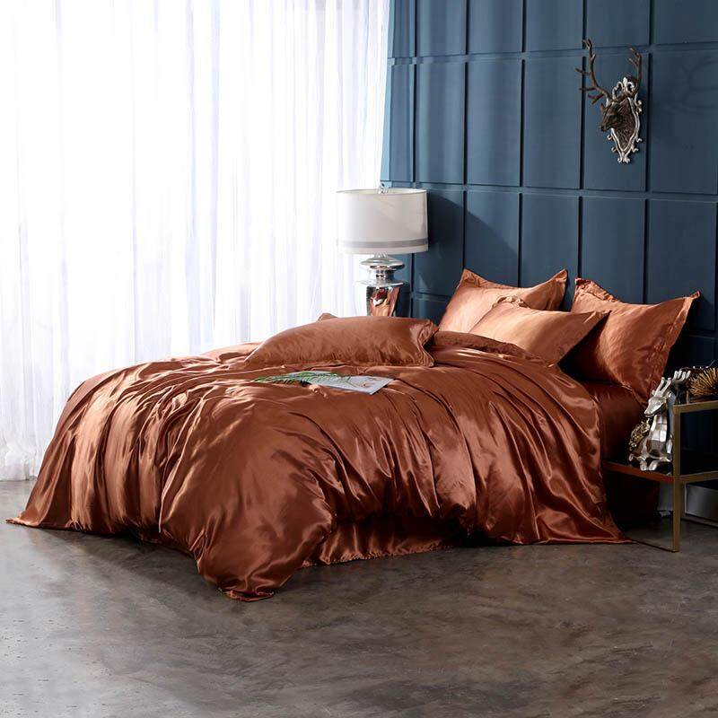Washed ice silk solid color home textile bedding set of four209-1985