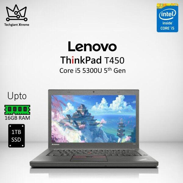 Lenovo ThinkPad T450 Core i5 (5th Gen) 14 HD / Upto 16GB RAM / 1TB SSD / 14 HD Screen / Refurbished Laptop/Komputer Malaysia