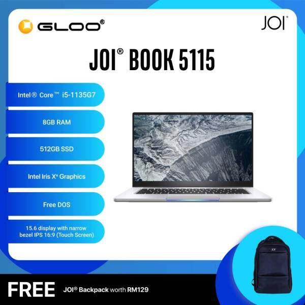 JOI Book 5115 (i5-1135G7/8GB/512GB SSD/15.6/Touch/Gray) Free JOI Backpack Malaysia