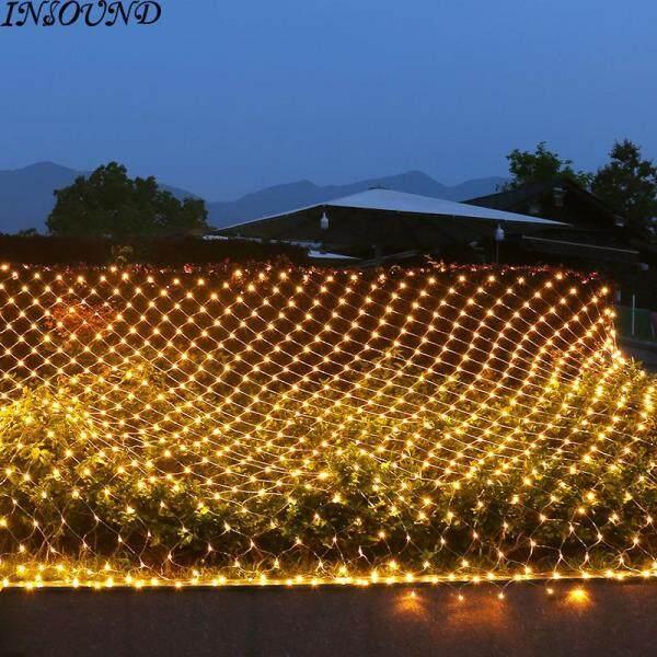INSOUND 96-LED Hình dạng lưới cá LED Đèn dây ánh sáng Vòng hoa cho lễ Giáng sinh Năm mới Trang trí tiệc cưới 1,5m x 1,5m