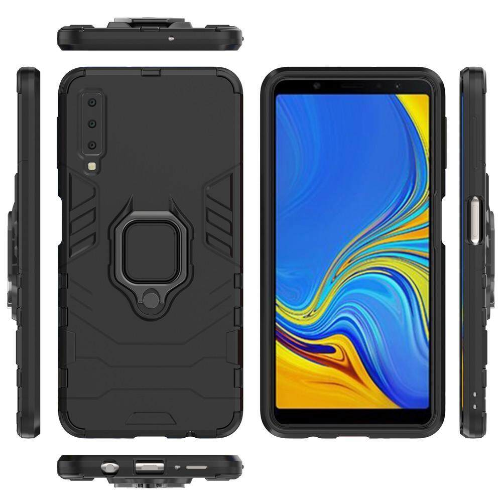 for Samsung Galaxy A7/A8/A9/J4/J6 2018/Galaxy Note 9 Case, [Heavy Duty]  Tactical Metal Ring Grip Kickstand Shockproof Casing Cover [Works With