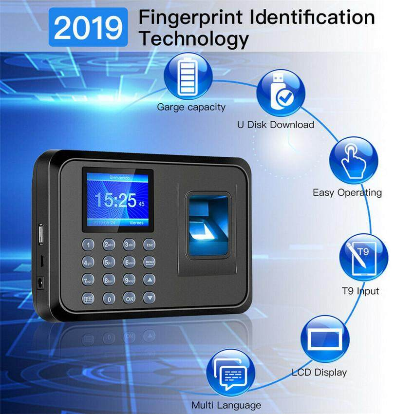 TTLIFE Fingerprint Attendance Machine 2.4  TFT LCD Biometric fingerprint Software free