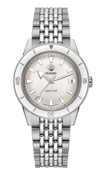 Rado Captain Cook White Automatic Stainless Steel 37mm Womens Watch (R32500013) Malaysia