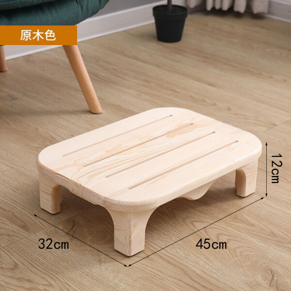 jiao ta deng Solid Wood Small Low Stool Living Room Office Footrest Ottoman Bathroom Chamber Pot Anti-slip Wooden Children Bench