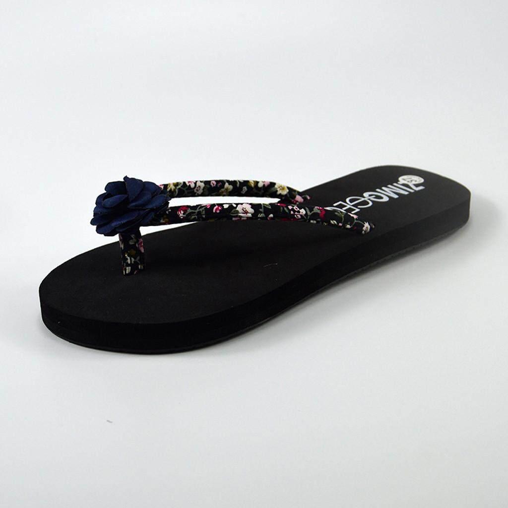 7dbb26ebfa99 viviroom-Women s Fashion Floral Wedges Non-slip Flat Heel Flip-flops  Slippers Shoes