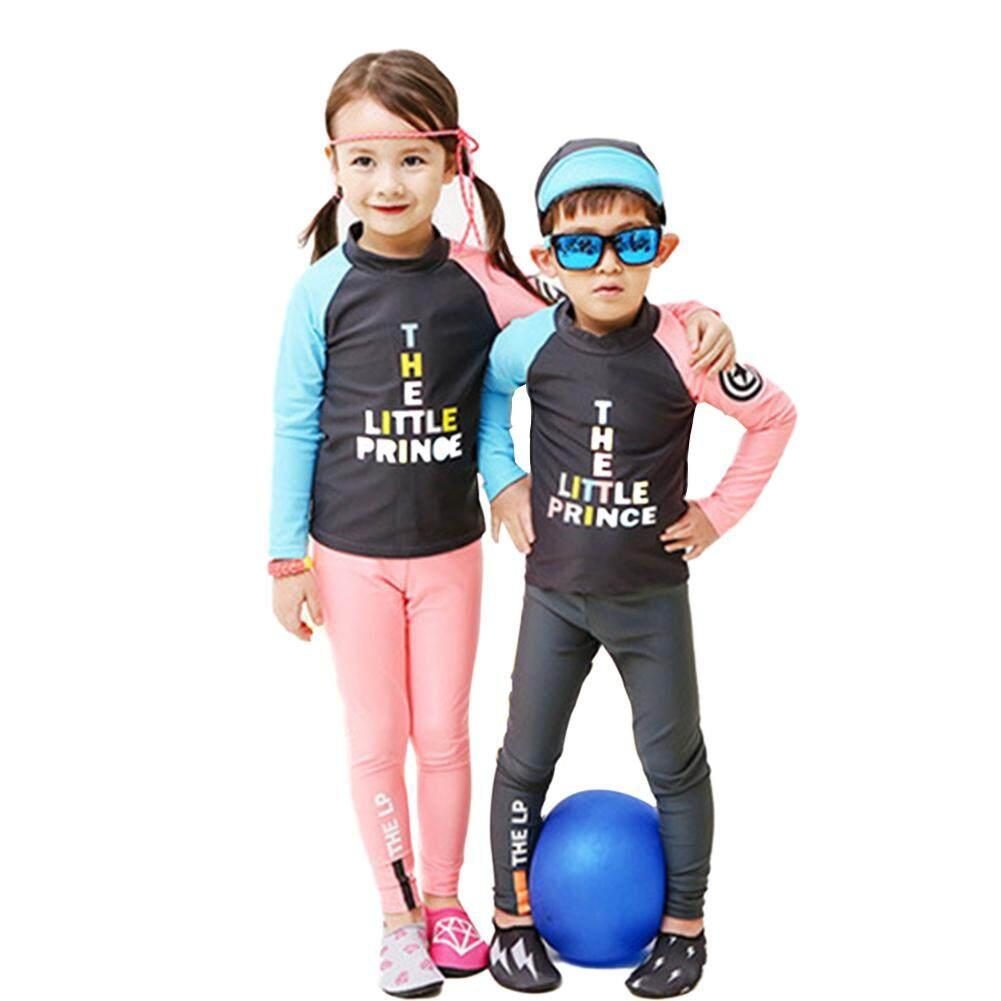 Giá bán Chilld 2pcs/set Baby Muslim Swimwear Boys Quick-drying Sunscreen Split Type Long Sleeve Muslim Style SwimsuitKid Love Children Clothing