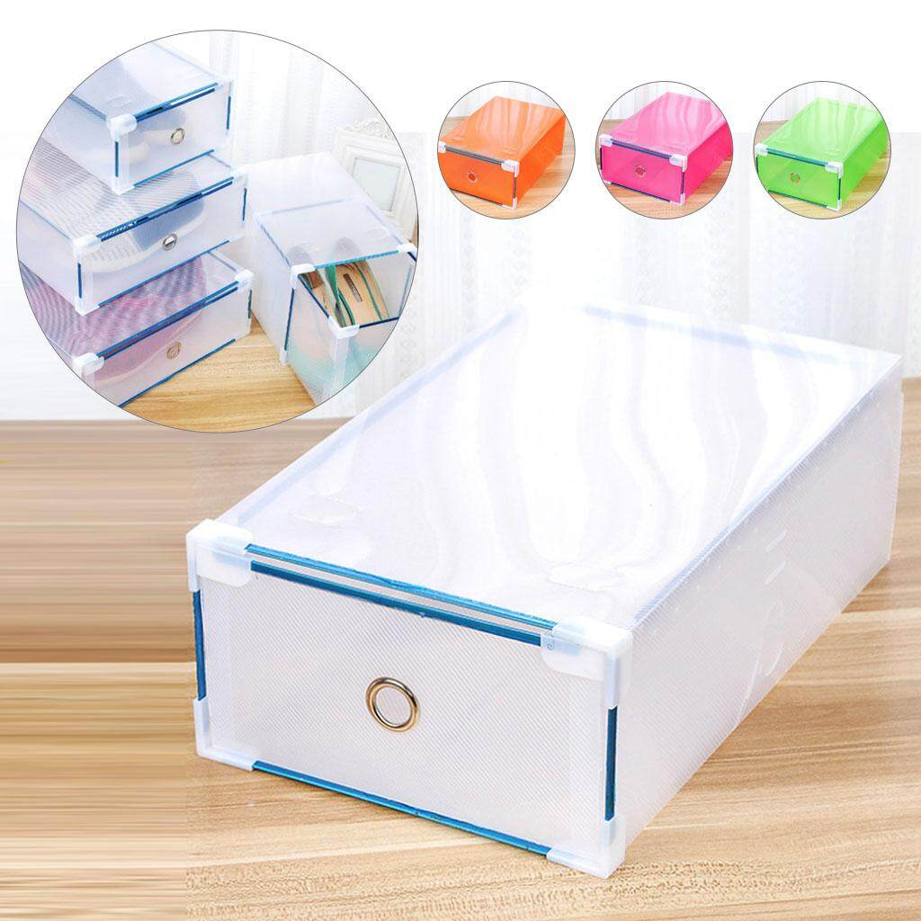 5Pcs/Set Eco-Friendly Shoe Storage Transparent Plastic Storage Box Rectangle Shoe Organizer Thickened drawer Shoe Box