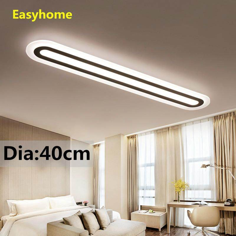 LED Ceiling Light Office Creative Lamps Modern Minimalist Living Room Bedroom Corridor Rectangular Ceiling Lamps