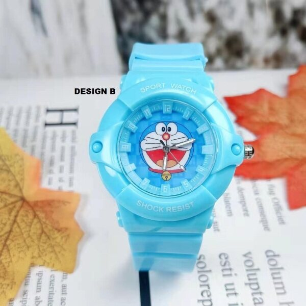 ICE Kids/Childrens Sport and Casual Doraemon Design Analog Watches + Watch Box Best Gift for Kids Jam Tangan Malaysia