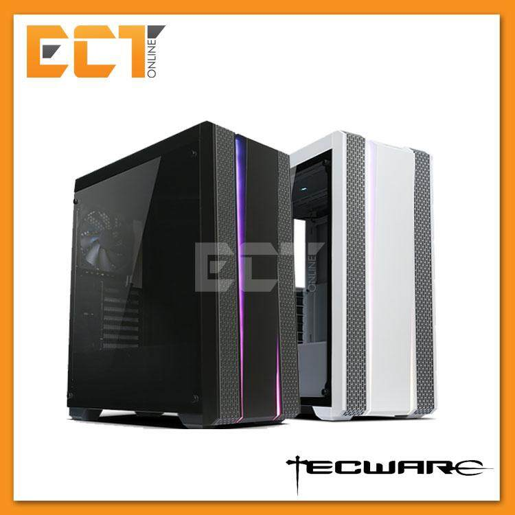 Tecware Bifrost ARGB Tempered Glass ATX Gaming Desktop Case - Black / White Malaysia