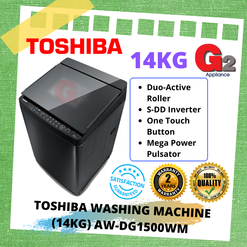TOSHIBA WASHING MACHINE 14KG [AW-DG1500WM]
