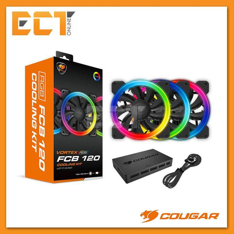 Cougar Vortex Rgb Fcb 120 Cooling Kit By Ect Online.