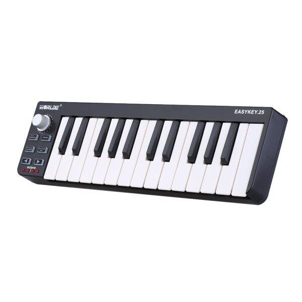 ready stock  Worlde Easykey.25 Portable Keyboard Mini 25-Key USB MIDI Controller Malaysia