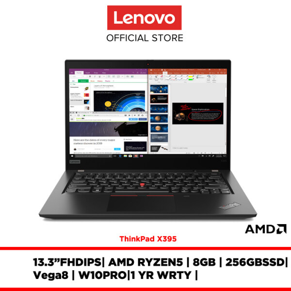 Lenovo Notebook Laptop ThinkPad X395 20NLS01500 13.3FHDIPS/R5-3500U/8GB/256GBSSD/W10PRO/1YR WARRANTY/FREE:BACKPACK,MOUSE,3YR WARRANTY Malaysia