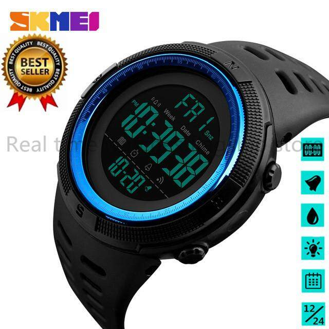 SKMEI Brand Men Sports Watches Fashion Chronos Countdown Mens Waterproof LED Digital Watch Man Military Clock Relogio Masculino Malaysia