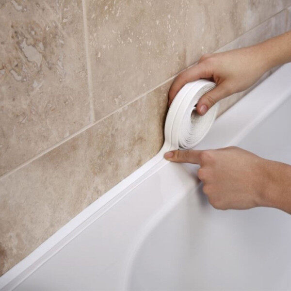 Hot 3.2M Bathroom Shower Sink Bath Sealing Strip Tape White PVC Self adhesive Waterproof Wall sticker for Bathroom Kitchen