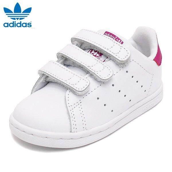 e6b6e6037e64ea Adidas Kids Infants Originals Stan Smith Shoes BZ0523 White Pink
