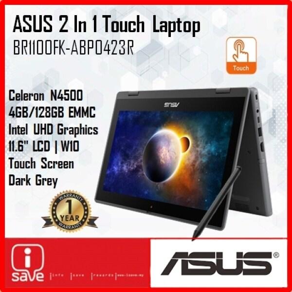 Asus BR1100FK-ABP0423R 11.6 2-In-1 Touch Laptop Dark Grey ( Celeron N4500, 4GB, 128GB EMMc, Intel, W10P ) Malaysia