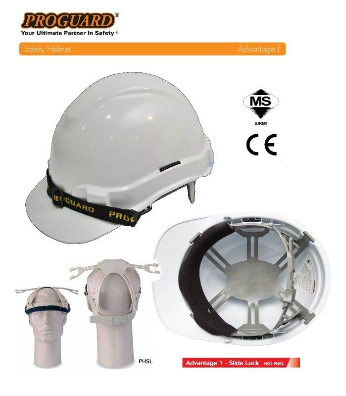 [WHITE] Proguard HG1-PHSL Advantage Safety Helmet (Sirim Certified)