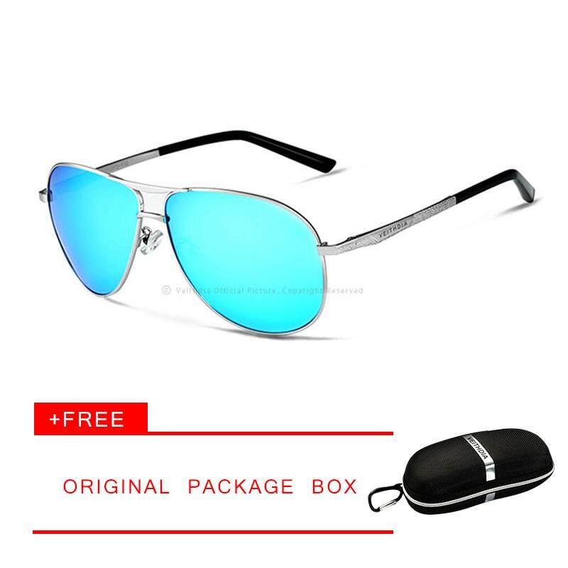 Merek Veithdia Terpolarisasi Cermin UV400 Lensa Kacamata Aksesoris Kacamata Hitam untuk Pria Wanita Modis Klasik Pria