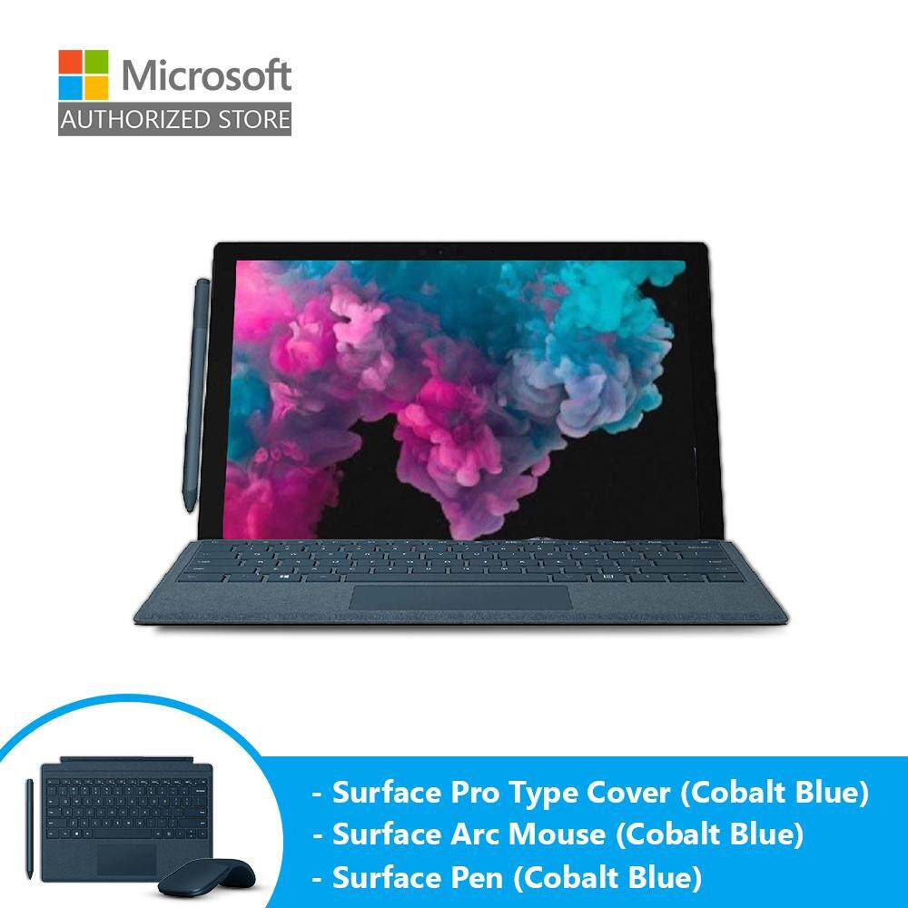 Microsoft Surface Pro 6 - Platinum (i5/8GB/128GB/12 /Windows 10) + Type Cover (Cobalt Blue) + Pen (Cobalt Blue) + Arc Mouse (Cobalt Blue) Malaysia
