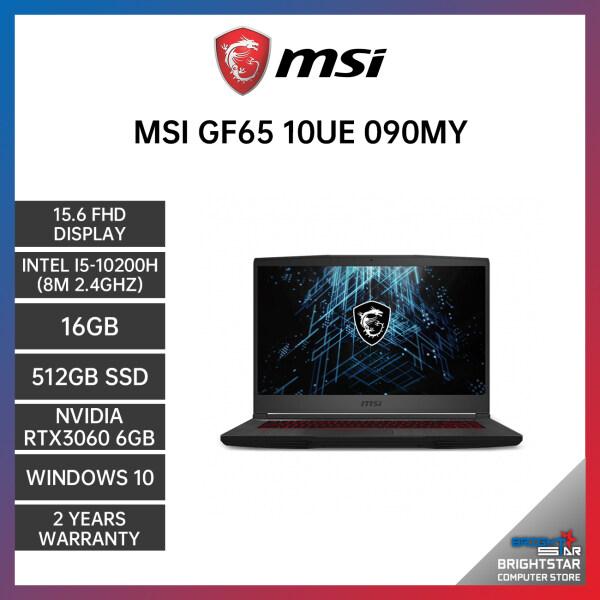 MSI GF65 10UE-090MY THIN GAMING LAPTOP 15.6 FHD / INTEL I5-10200H / 16GB / 512GB SSD / NVIDIA RTX3060 6GB / 2 YEARS WARRANTY / 144HZ Malaysia