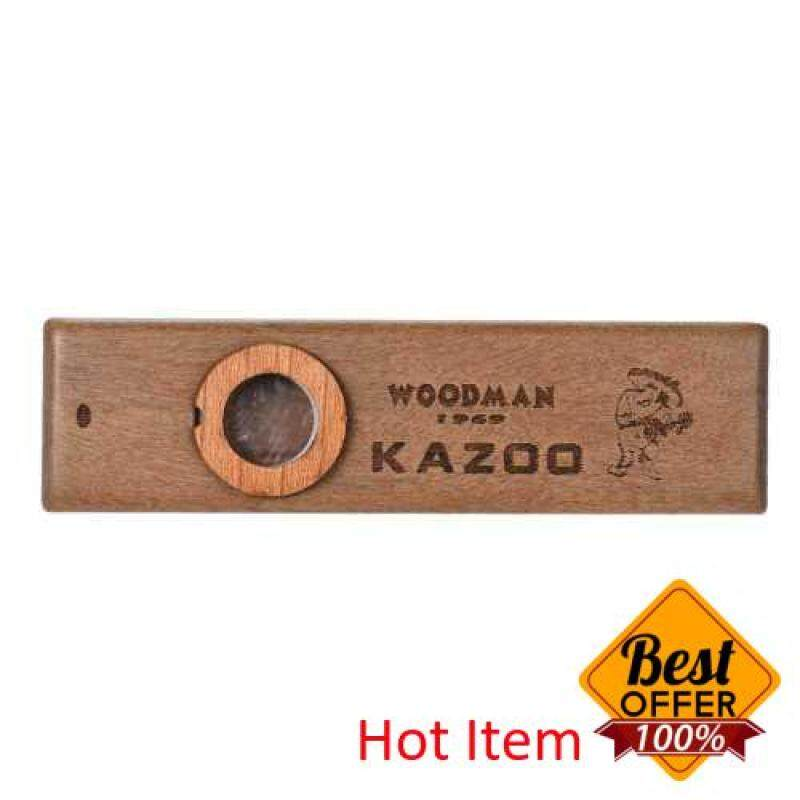 Wooden Kazoo Musical Instrument Ukulele Guitar Partner Wood Harmonica with Metal Box for Music Lover Malaysia