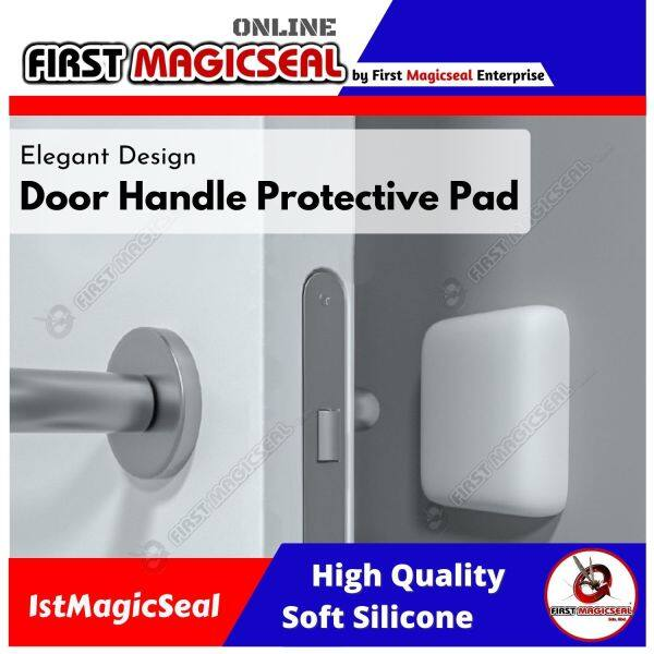 1stMagicseal - (Elegant Design) Door Handle Protective Pad, Door Stopper Wall, Door Bumper with 3M Sticker Door Knob Protector