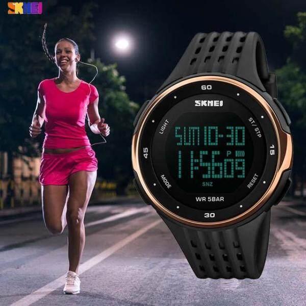 Hot Brands SKMEI 1219 New Sports Watch Women Waterproof LED Sport Military Watch Womens Digital Watch Relogio Masculino Malaysia