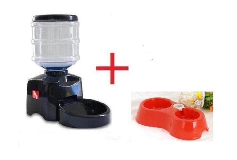 Automatic Pet Feeder Voice Record And Lcd Screen-Free (worth Rm 5) Water Automatic Dispenser By Alyworld.
