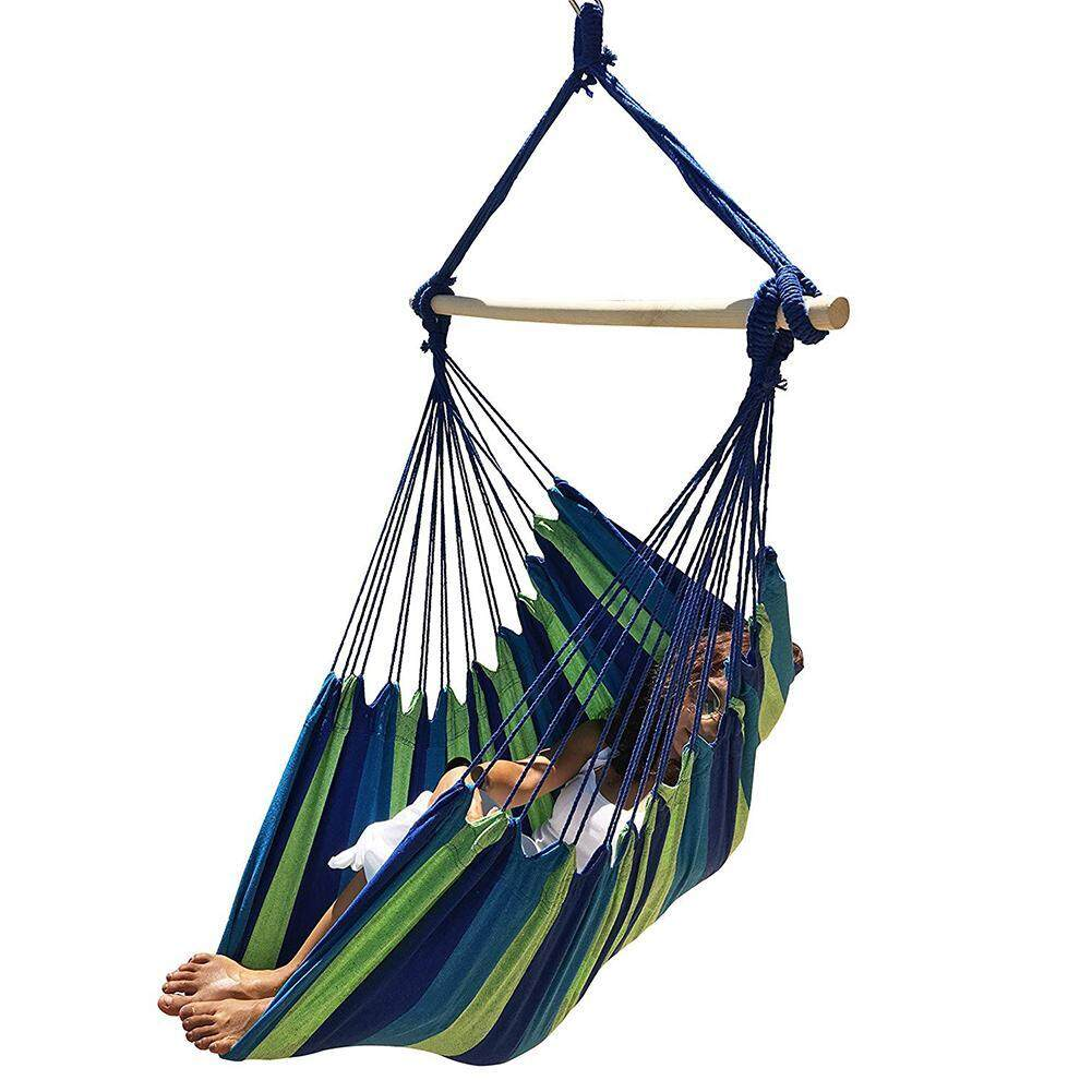 Portable Travel Camping Hanging Hammock Home Bedroom Swing Bed Lazy Chair