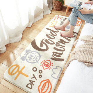 Washable Modern Home Long Carpet Bedroom Bedside Mat - Soft Non-slip Floor Mat Table Blanket Sofa Rug Machine Wash 120CM thumbnail