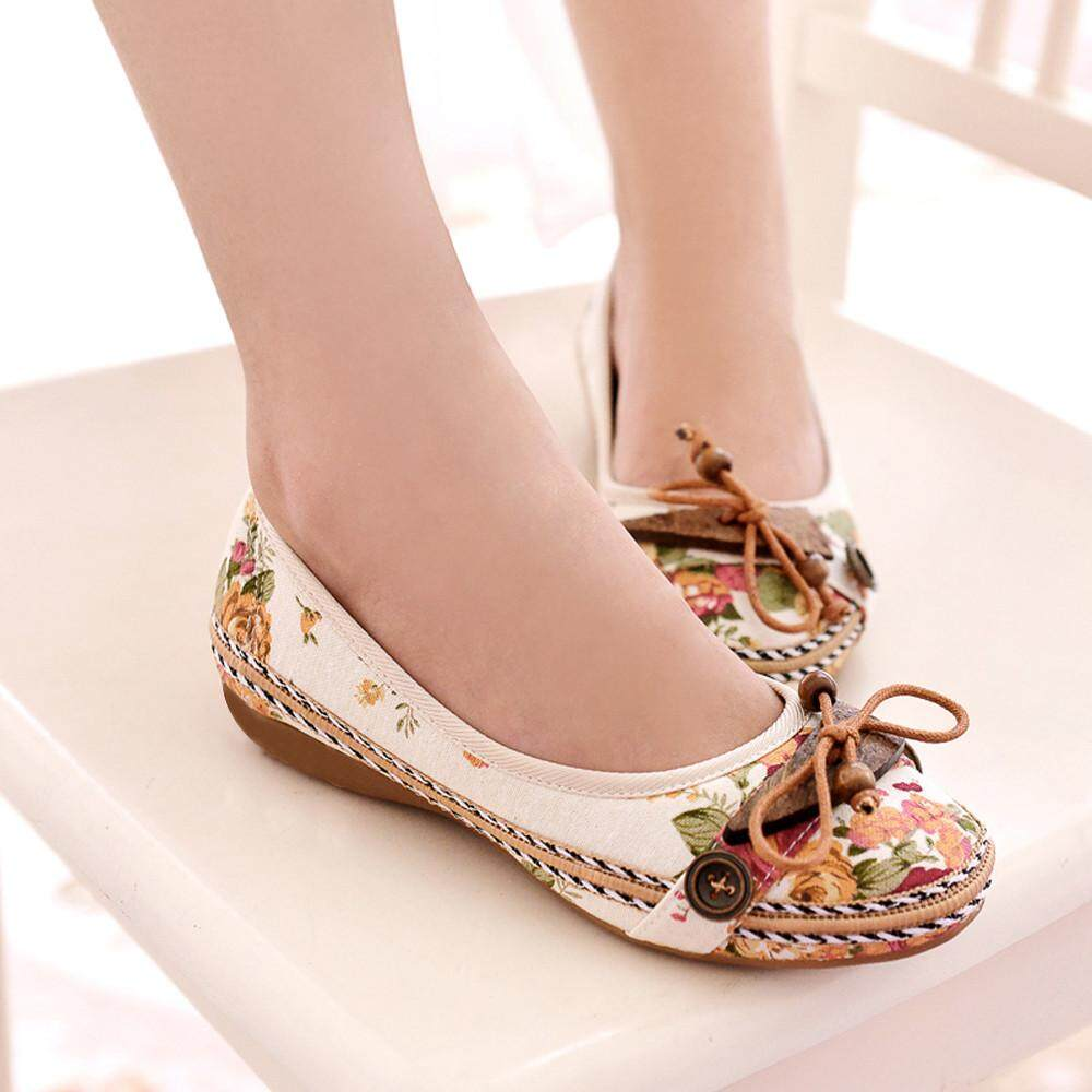 60d413c8424 Auburyshop Fashion Nude With Vintage Famous Flat Embroidery Leisure Women  Embroidered Shoes Reference size chart