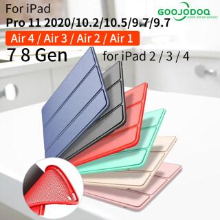 GOOJODOQ Cho iPad Air 2 Trường Hợp Không Khí 4 Trường Hợp Funda iPad 10.2 Pro 11 2020 2 3 4 Ốp Cho iPad Thế Hệ Thứ 8 Air 3 10.5 Mini 4 Mini 5 Capa thumbnail