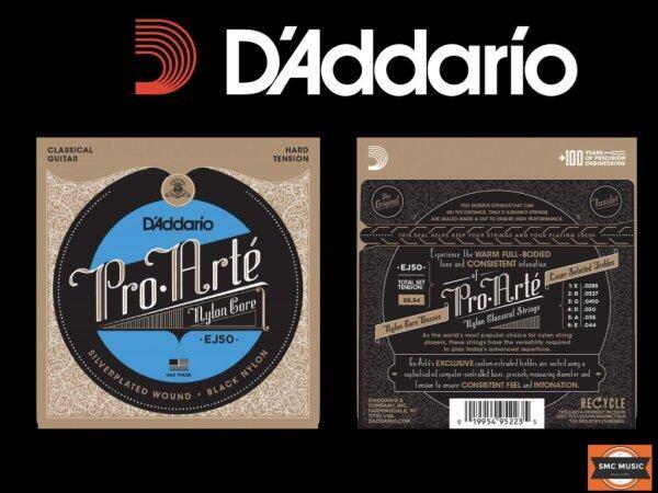 DAddario EJ50 Pro Arte Classical Guitar Strings (Black Nylon) Malaysia