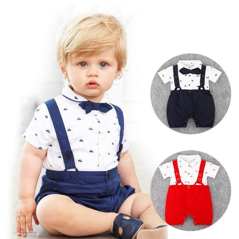 41d8bc86335ee READY STOCK Cute fashion baby boy gentlemen baby romper newborn infants  bodysuit jumpsuit