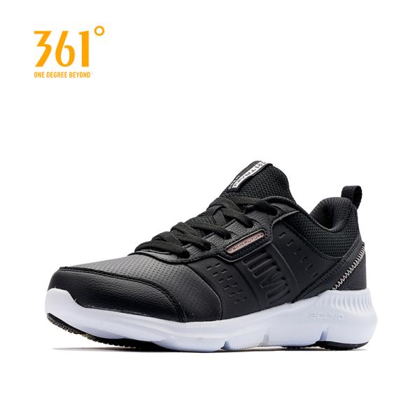 Giày sneaker thể thao nữ 361 Degree cao cấp chất liệu da phối lưới thoáng khí 581944408