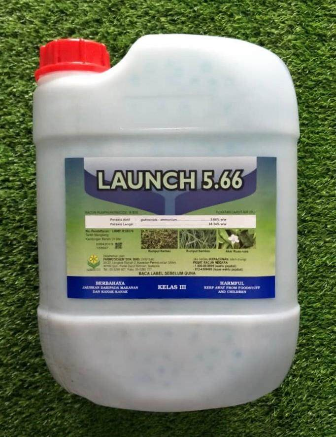 20L Launch Glufosinate-ammonium 5.66% Racun Rumput Herbicide